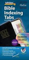 Rainbow Bible Indexing Tabs Including Catholic Books - by Tabbies Gift Quality