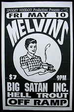 MELVINS Off Ramp SEATTLE 1991 CONCERT POSTER Big Satan NIRVANA Buzz Dale Black
