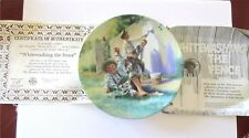 WHITEWASHING THE FENCE 1st Issue In Tom Sawyer Series Mark Twain Plate COA