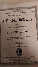 Edward Grieg: String Orchestra, Aus Holbergs Zeit: Pocket Music Score
