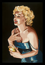 FRAMED Chanel No. 5 by Karl Black 36x24 Art Print Poster Marilyn Monroe Vintage