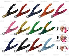 Quality Nail Art Tips Cutter Acrylic Nails Triple Cut Tool 13 Colours