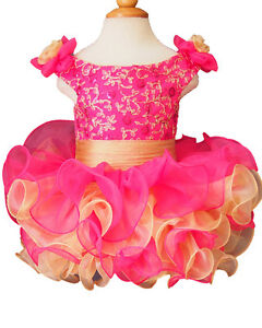 Infant/toddler/kids/baby/Girl's Pageant/prom/formal Dress size1-size7 G130