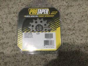 NEW PRO TAPER RACE SPEC 14t FRONT SPROCKET STEEL KTM HUSQVARNA 85SX TC85 105SX