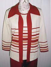 TRUE Vintage 70's 3pc Pantsuit Bell Bottom Pants Suit Set  VTG Excellent M L 10