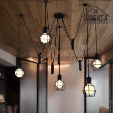 Large Chandelier Lighting Kitchen Lamp Black Pendant Light Modern Ceiling Lights