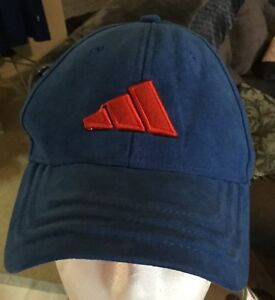Adidas Cap/ Hat Blue Size S-7 Fitted Suede Feel