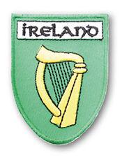 Irish Harp Ireland Shield Embroidered Sew-on Cloth Badge Patch Appliqué