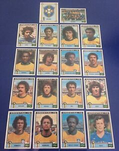 Panini Vintage Argentina 78 World Cup Football Stickers Brazil team Inc Zico
