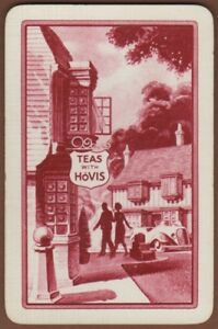 Playing Cards Single Card Old HOVIS BREAD Advertising Art Design Lady Man Pub 9