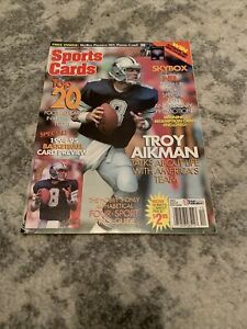 TROY AIKMAN COVER 1994 Sports Cards Magazine   NO LABELS
