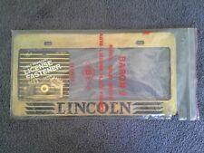 BRASS Lincoln License Plate Frame Kit c1982