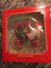 Hallmark Keepsake Ornament Sweetheart Carriage / Dated 1987 - Tires spin