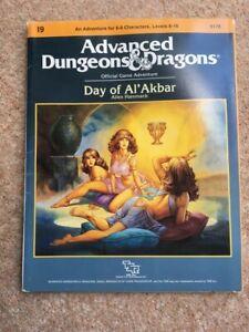 "Advanced Dungeons & Dragons ""Day of Al'Akbar"" I9 adventure module. TSR9178"