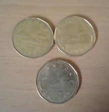 Set Of Three Canada Loonie Dollars 1987/1996/2006
