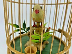 Vintage Singing Bird in Cage Music Box