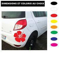Sticker Fleur Hibiscus Autocollant  déco dimensions et couleurs au choix