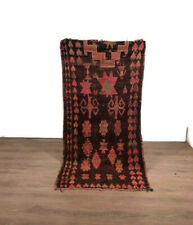 Stunning Moroccan Handmade Rugs  Carpet Thread  Boucherouite Hallway 88X44 inch