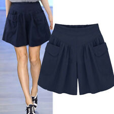 Women Summer High Waist Short Pants Trousers Wide Leg Loose Fit Shorts Plus Size