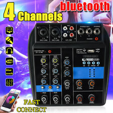 Portable 4 Channel Usb Lcd player Mixer bluetooth Studio Audio Mixing Console