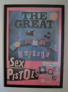 Original 1979  Sex Pistols - Great Rock n Roll Swindle Record Shop Promo Poster