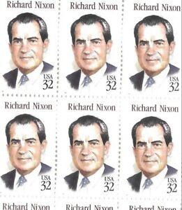 """""""1994 RICHARD NIXON"""" FULL SHEET 50 - 32c STAMPS. MNH. FREE SHIPPING"""