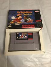 Super Nintendo SNES The Magical Quest Starring Mickey Mouse Game Box