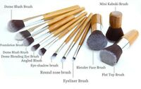 11Pcs Wood Cosmetic Tools Set Eyeshadow Foundation Concealer Makeup Brushes