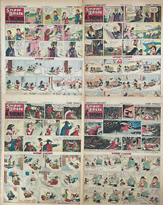 WALT DISNEY'S SNOW WHITE - 4 full pages with Mickey Mouse Dec 1937-Jan 1938-Pg#2