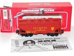 American Flyer 6-48609 Delaware & Hudson covered hopper on D&H removable top S