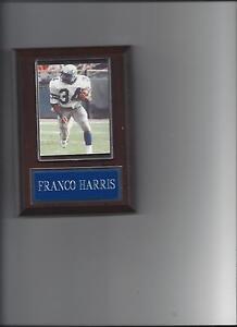 FRANCO HARRIS PLAQUE SEATTLE SEAHAWKS FOOTBALL NFL