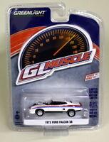 Greenlight 1/64 Scale 1973 Ford Falcon XB White Diecast Model Car