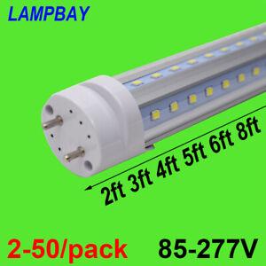 2-50/pack V shaped LED Tube Lights 270 Degree Fluorescent Lamp G13 Retrofit Bulb