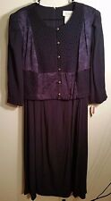 "VTG NEW NWT Vintage Purple Lady Dorby Dress plus size 20W 50"" bust rayon blend"
