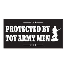 """Protected By Toy Army Men car bumper sticker decal 6"""" x 3"""""""
