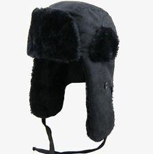 New Black Men Women Bomber Aviator Trooper Winter Snow Ski Hat