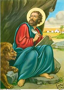 Catholic Print Picture ST. MARK Evangelist ready to frame Ready to be framed