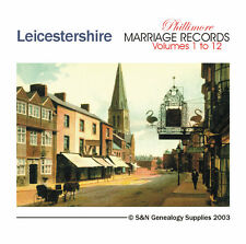 Leicestershire Parish Registers - Complete Phillimore Marriage Records