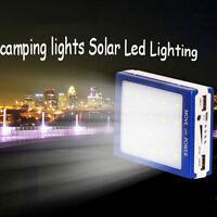 30000mAh Handy Solar Power Bank Ladegerät LED mit Dual USB Akku Externe Batterie