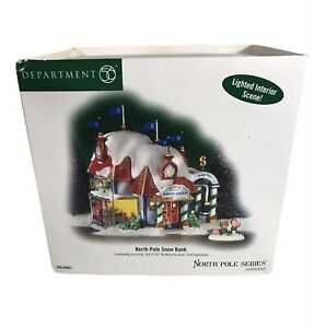 """Department 56 """"North Pole Snow Bank"""" from North Pole Series"""