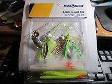 """Luck """"E"""" Strike Spinnerbait 15-Piece 3/8oz Spinner Bait Kit Fishing Lures"""