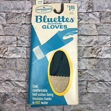 Vintage Bluettes Large 8.5 - 9 Blue Neoprene Household Gloves