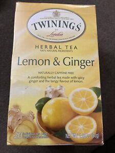 Lemon & Ginger Herbal Tea Caffeine Free Herbal Tea Bags 20 bags Sealed
