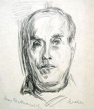 Wolfgang von Websky 1895-1992 Wangen / Porträtzeichnung Hans Niekrawietz Oppeln
