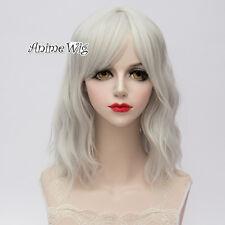35CM Light Blonde/Orange/Light Pink/Sliver White Short Curly Lolita Wig Cosplay