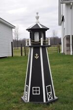 "Large Black 39""  Lighthouse Poly Vinyl Yard Garden Decoration Outdoor Landscape"