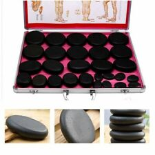 28pc Basalt Massage Hot Stone Set w/ toe, trigger, facial, palm stones & Heater