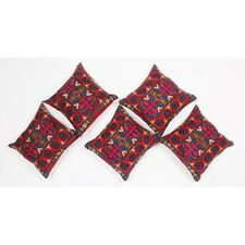 5 Pcs Embroidery Velvet Home Decor Pillow Case Cushion Cover