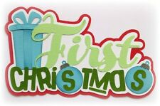 FIRST CHRISTMAS TITLE  PREMADE PAPER PIECING 3D DIE CUT MY TEAR BEARS KIRA
