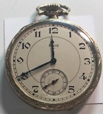 1921 ELGIN POCKET WATCH 16 SIZE 17 JEWELS RUNS VERY WELL ORNATE LOVELY